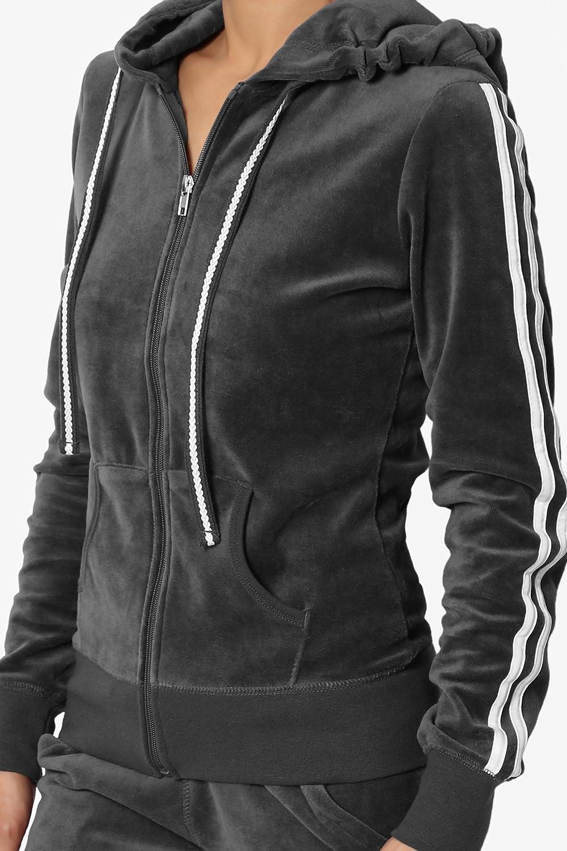 TheMogan Velour Tracksuit Set OR Velvet Sporty Casual Zip Hoodie Jacket OR Sweat Pants