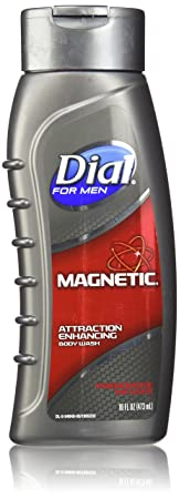 Dial for Men Magnetic, Attraction Enhancing-Phermone Infused Body Wash 16 fl oz 473 ml Pack of 3