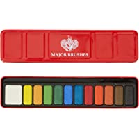 Major Brushes Z1000  - Estuche metálico de acuarelas (12 colores)