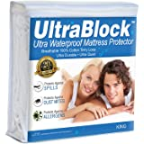 UltraBlock King Size Waterproof Mattress Protector - Premium Soft Cotton Terry Cover