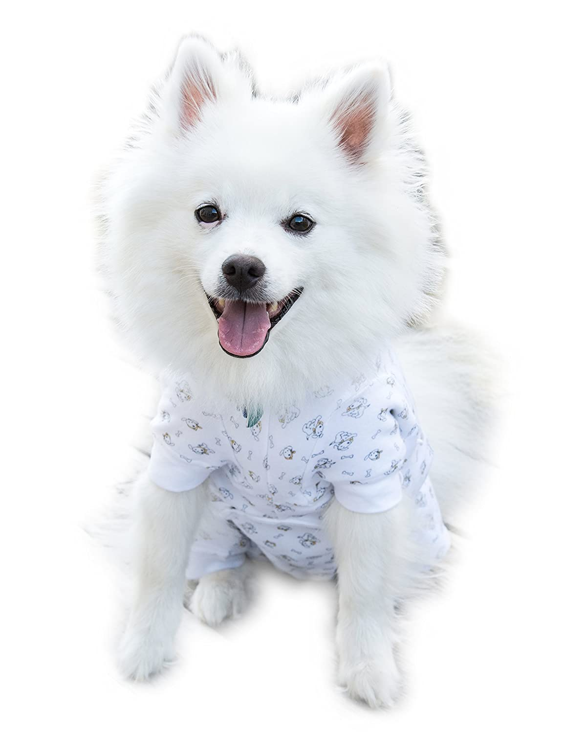 Cover Me by Tui Adjustable Fit Puppy Print Pullover with Short Sleeve for Pets Large