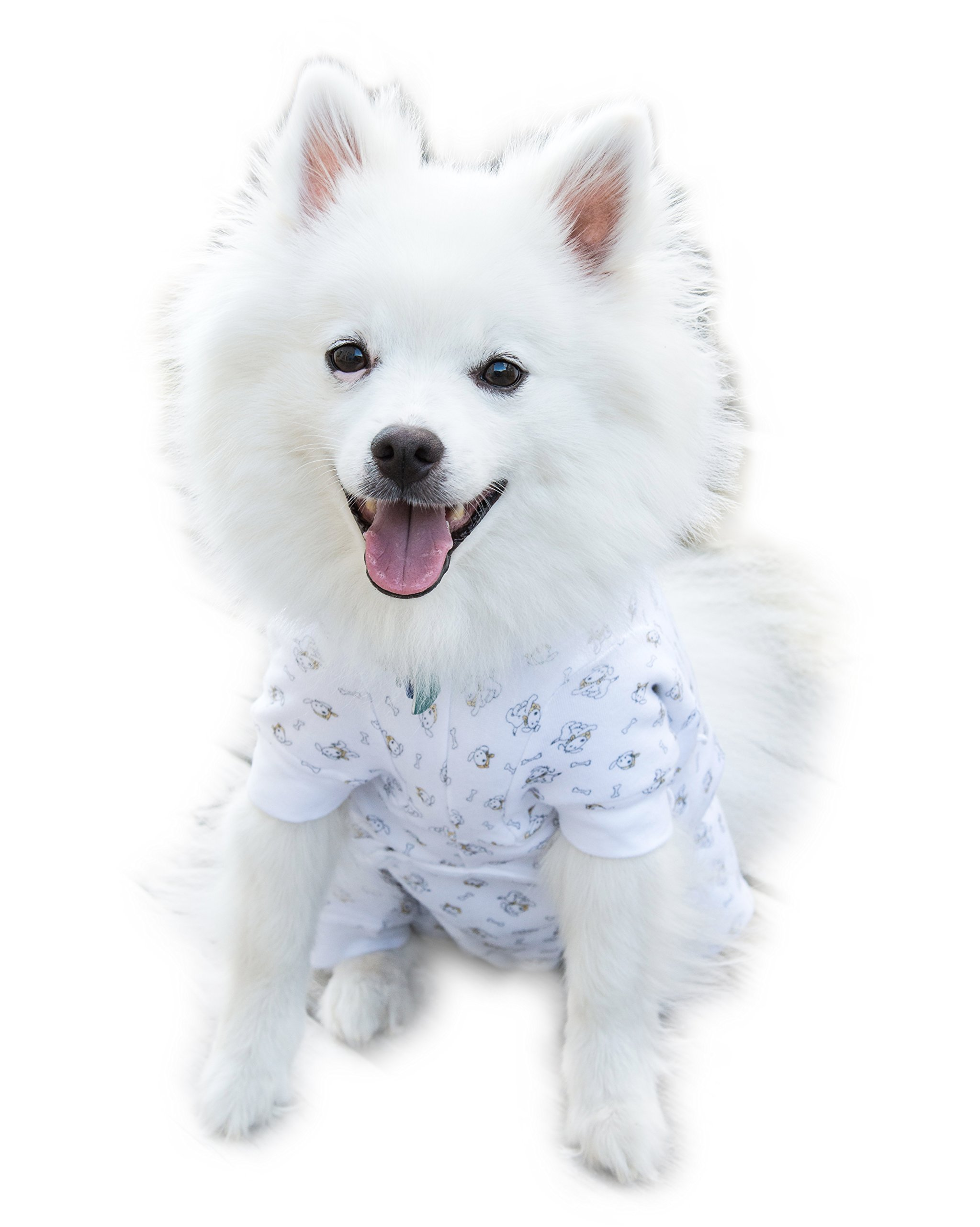 Cover Me by Tui Adjustable Fit Puppy Print Pullover with Short Sleeve for Pets, Large