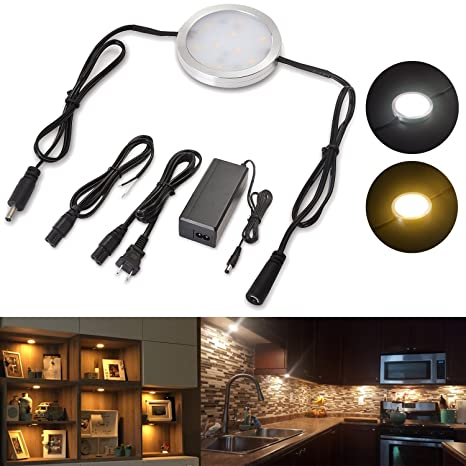 Under cabinet lighting linkable led puck wall lights dimmable under cabinet lighting linkable led puck wall lights dimmable hardwired wall plug in 120v 12v aloadofball Images