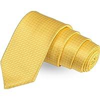 Peluche The Craven Curve Yellow Colored Microfiber Necktie For Men