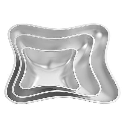 Wilton - Moldes para tartas (3 piezas), diseño de cojín