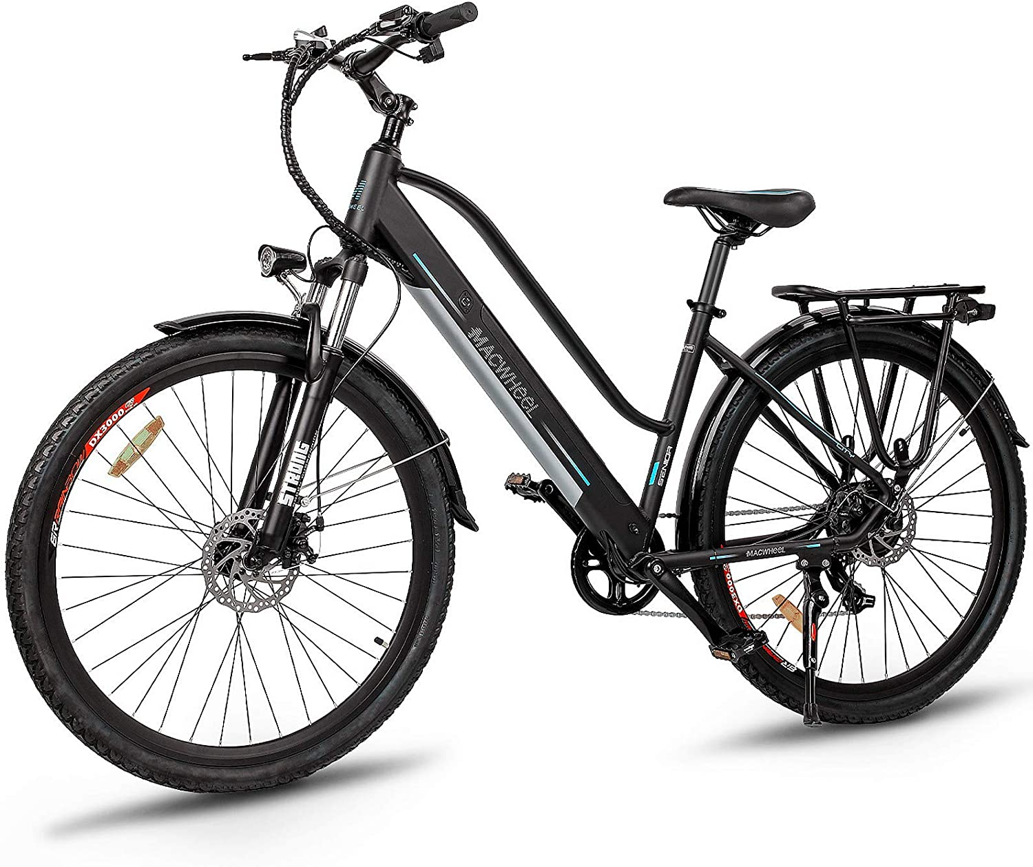 Electric Bikes for seniors - Macwheel 350W Electric Trekking Cruiser