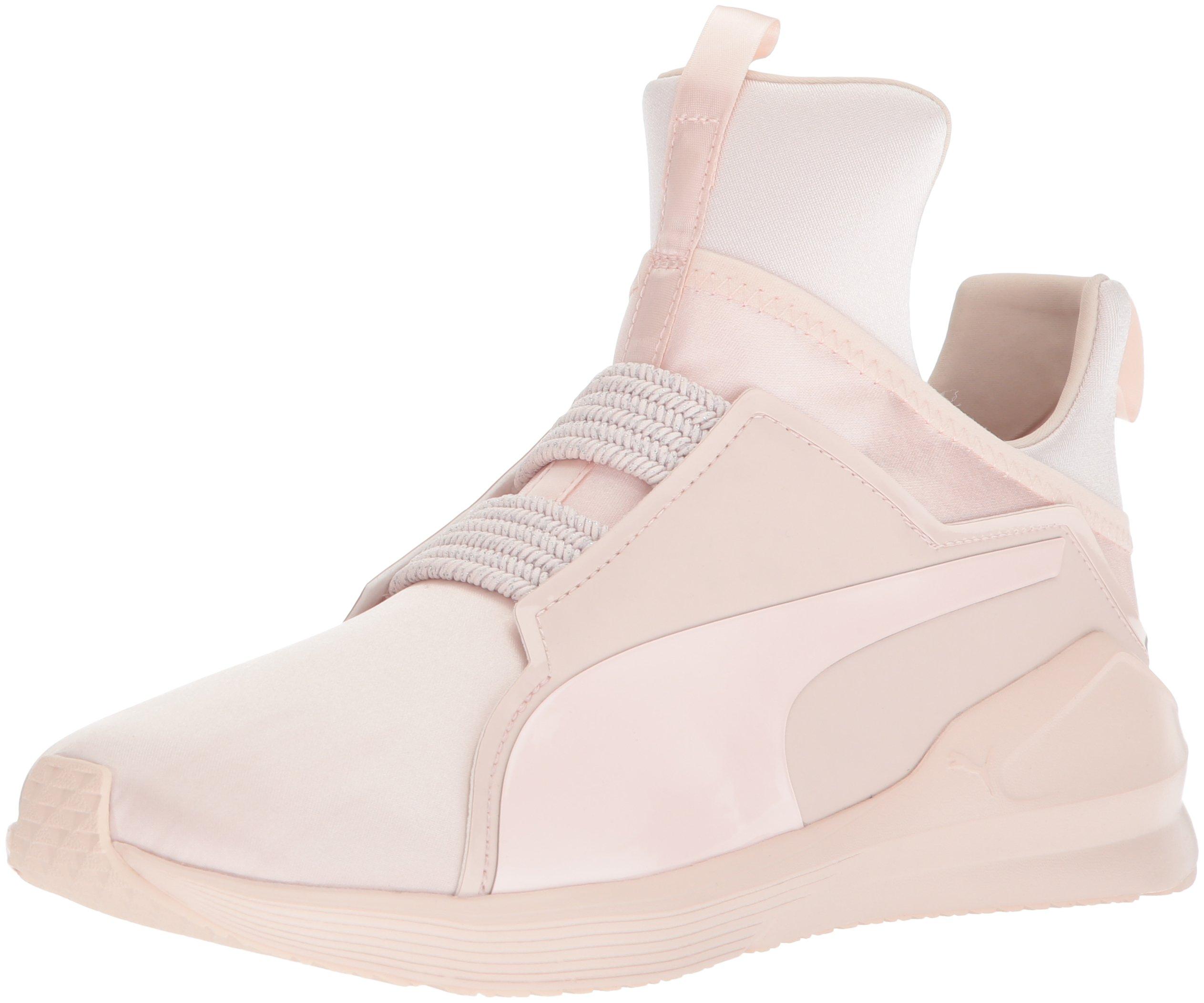 PUMA Women's Fierce Satin En Pointe Wn Sneaker, Pearl, 9 M US