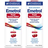 Emetrol Nausea & Upset Stomach Relief Liquid Medication, Cherry - 4 oz Bottle, 2 Count