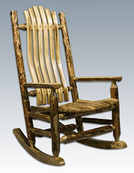 Genial Montana Woodworks Glacier Country Log Rocking Chair