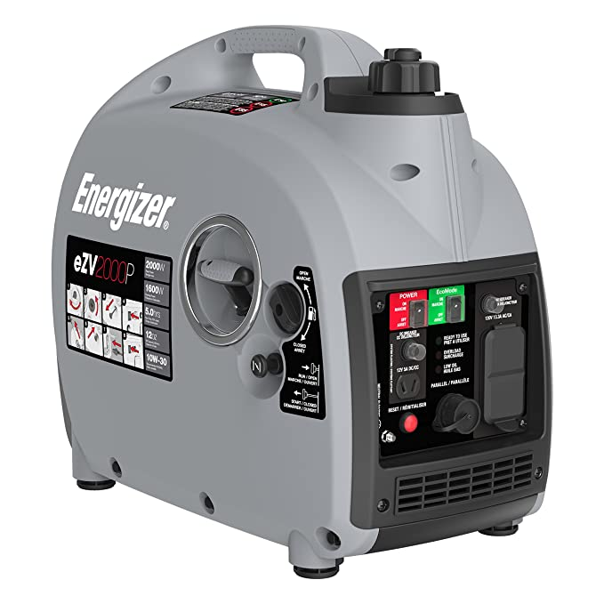 Best OHV Gasoline Powered Inverter Generator: Energizer eZV2000P 2000W Gas Powered Portable Generator