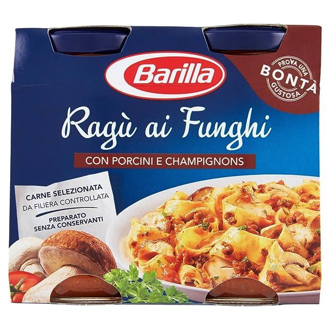 7 opinioni per Barilla Sugo Ragù ai Funghi Porcini e Champignons, 180x2 gr