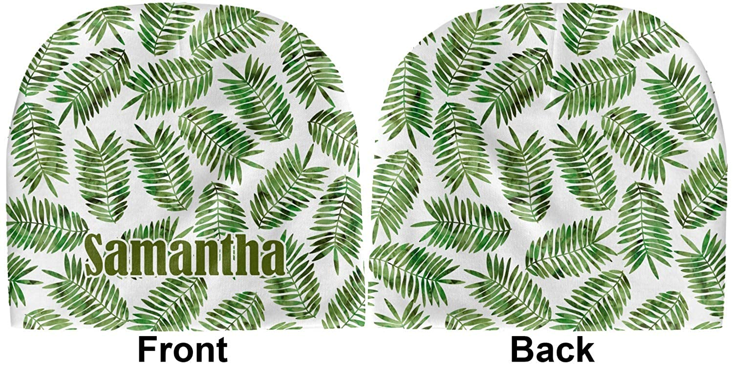 Beanie YouCustomizeIt Tropical Leaves Baby Hat Personalized Green