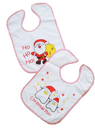 2x Baby Lätzchen Im Doppelpack Weihnachten Weihnachten Nikolaus Geschenk Zwillinge Zwillingskleidung