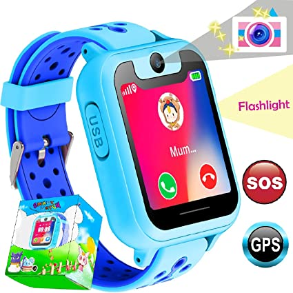 Amazon.com: Niños reloj inteligente para niños niñas amgur ...