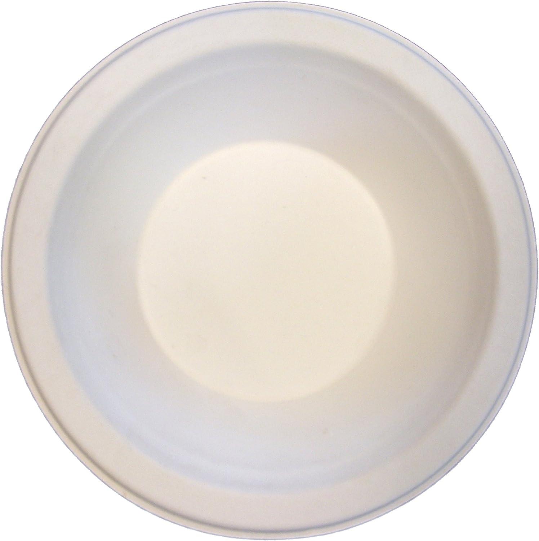 8 x 125 Case of 1000 Primeware Compostable 6 Round Plate
