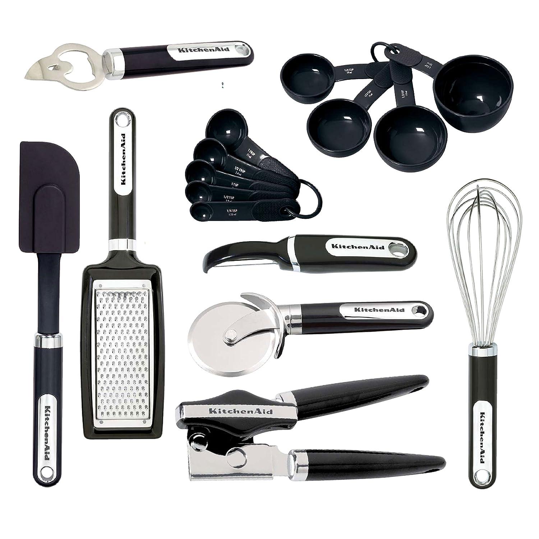 KitchenAid 16-Piece Essential Gadget Set, Black - KC459BXOBA