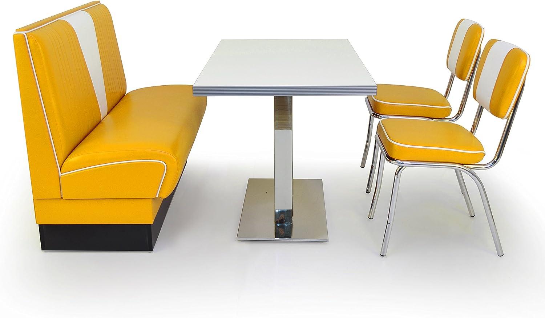 Yellow Retro American Diner Seat Group