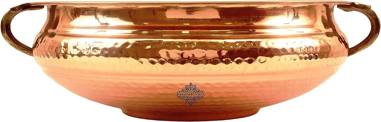 IndianArtVilla Vintage Style Copper Urli Container Pot, Storage Water, Home Office Décor Gift Item, Diameter 12
