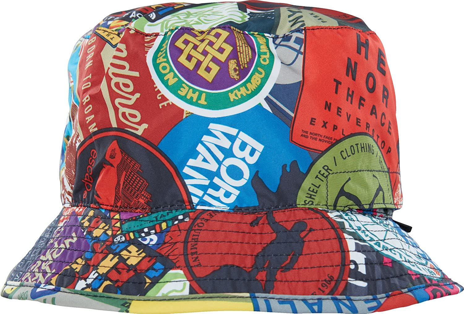 0f477780d4107 Amazon.com: The North Face Sun Stash Hat TNF Black Sticker Bomb Print SM:  Sports & Outdoors