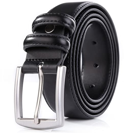 Weifert Men's Dress Belt Black Leather Belts for Jeans (36-38, Black)