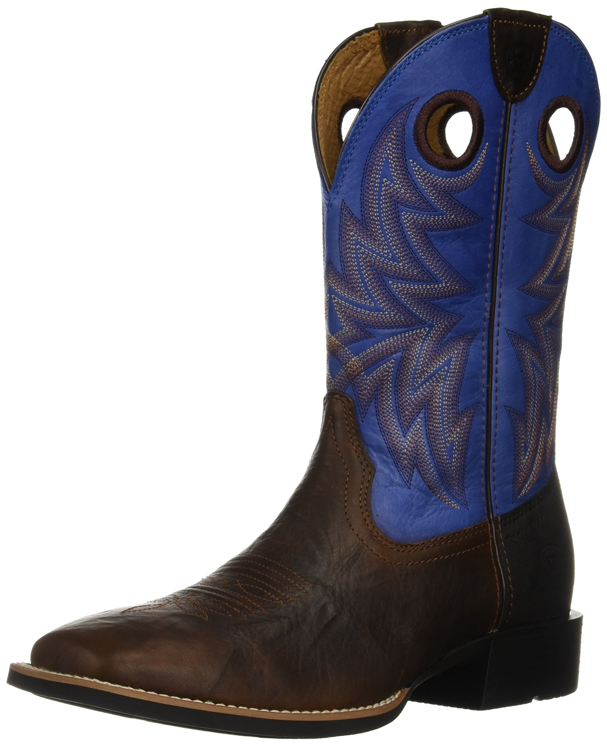 ARIAT Men's Heritage Cowhorse Western Boot, bar top Bison/tack Room Blue, 13 D US