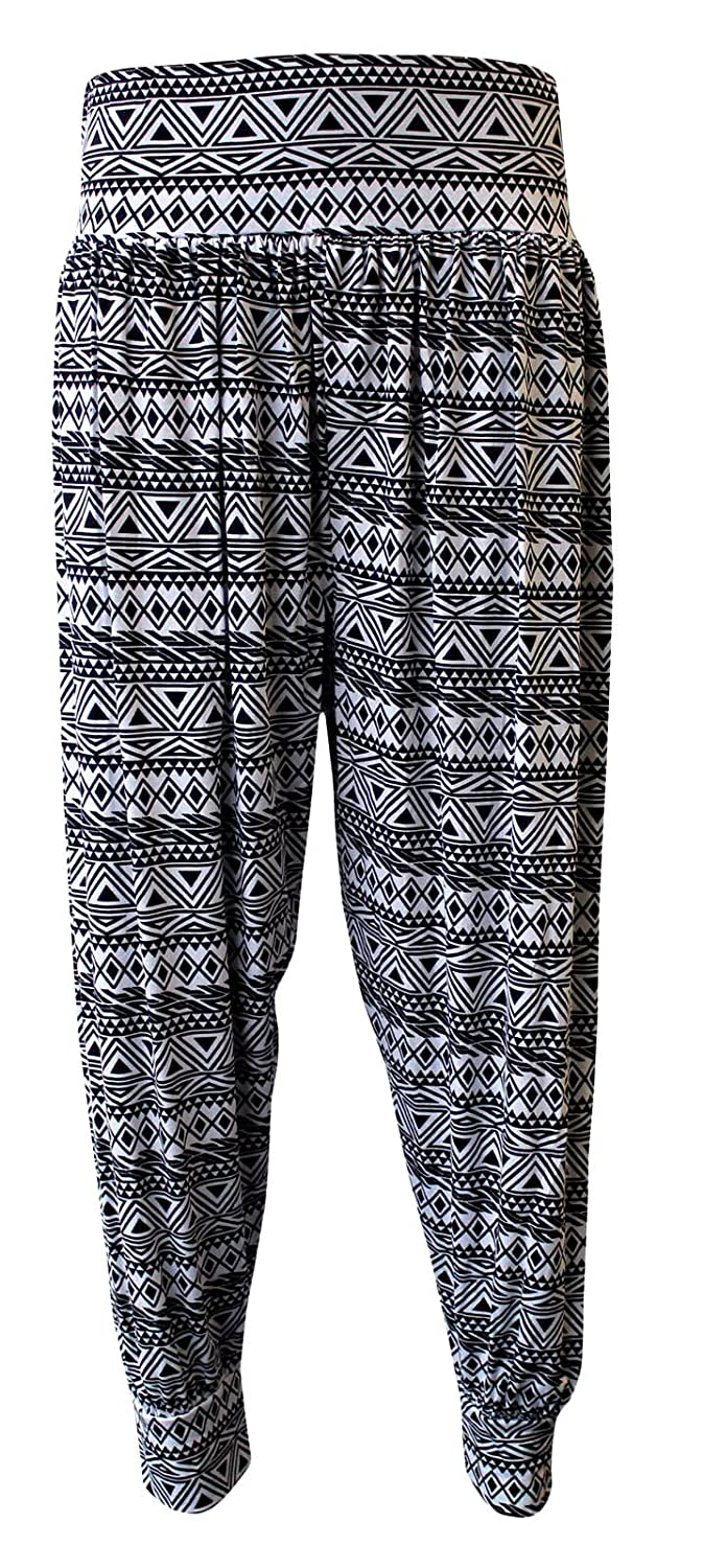 ASBAHFASHION Women's Harem Trousers Ali Baba Long Pants Baggy Hareem Leggings Plus Size 8-26