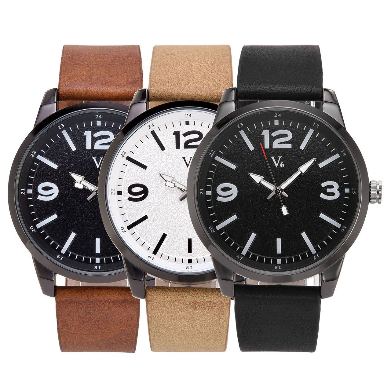JSDDE Uhren,Vintage Klassische Armbanduhr Wasserdicht Einfaches Design Matt Wähl Quarz Uhrwerk Uhr Herren Bahnuhr