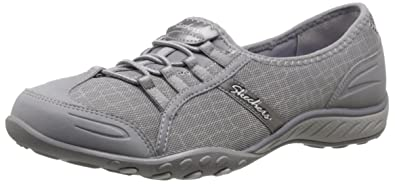 Skechers Breathe-EasyAllure, Sneakers Basses Femme - Noir - Noir, 39