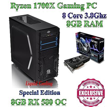 ryzen 1700 x, juegos casa/PC de sobremesa, 8 GB RAM, 240 GB SSD, 8 GB