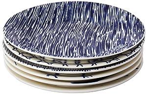 Royal Doulton Pacific Tapas Plates, 6.3-Inch, Blue, Set of 6