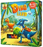 Dino Land - Board Game for Kids 6 and up with Funny Dinosaurs - Action and Adventure Best Childrens Board Games for Families