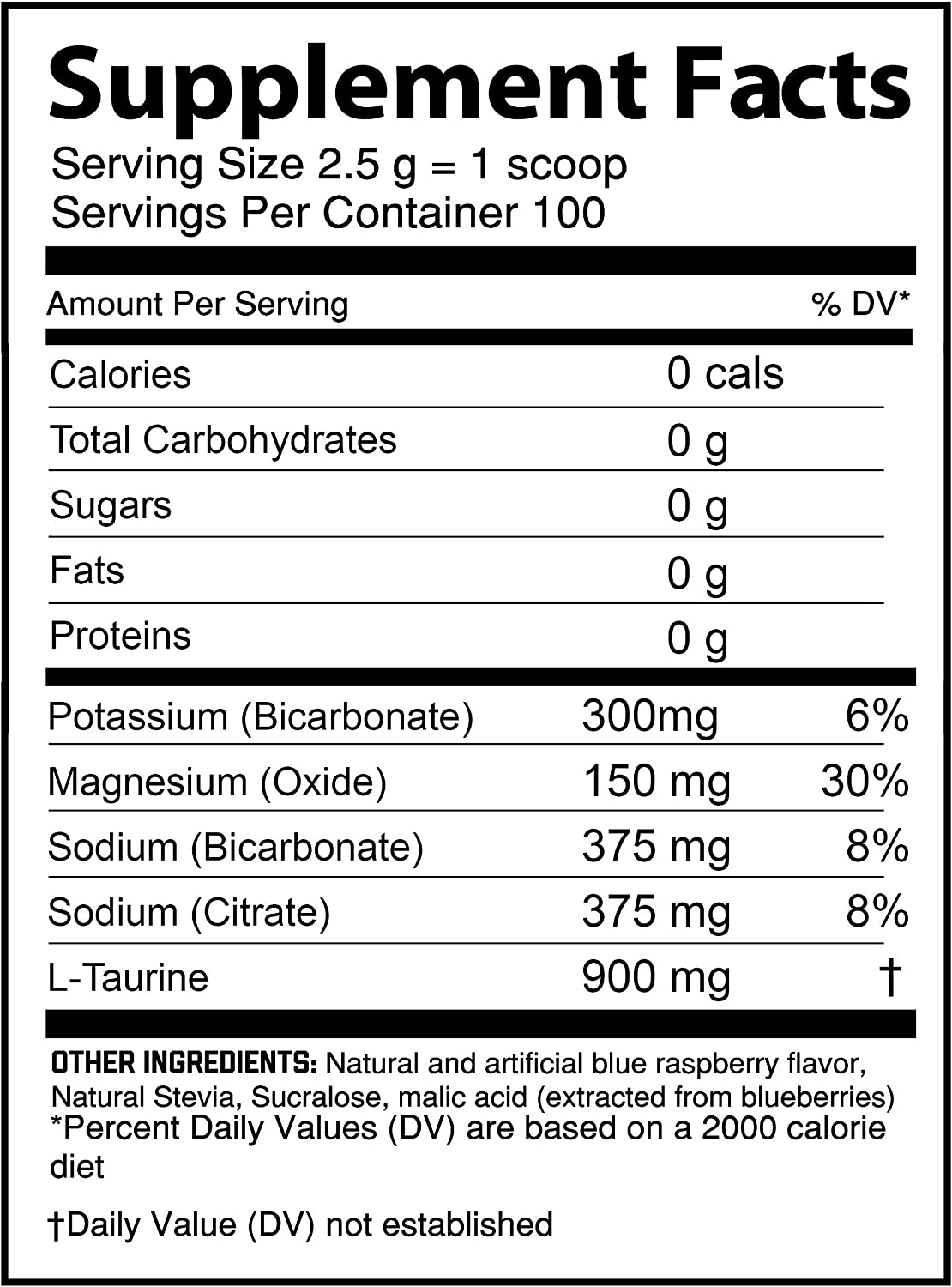 Hydrolyte BluRazz - 100 Servings Sugar Free Electrolyte Powder with Magnesium, Potassium - Boost Endurance and Reduce Fatigue with This Electrolyte Supplement - Maximum Hydration - Keto Friendly: Health & Personal Care