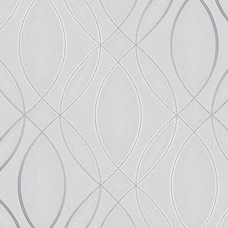 Pulse Ogee Wave Wallpaper Silver Grey Fine Decor Fd42337 Amazon