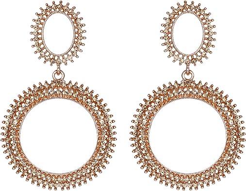 Bubble earrings Chick earrings Festival  Dark red Bohemian Hoops Large Dangles Boho Chandelier Earrings