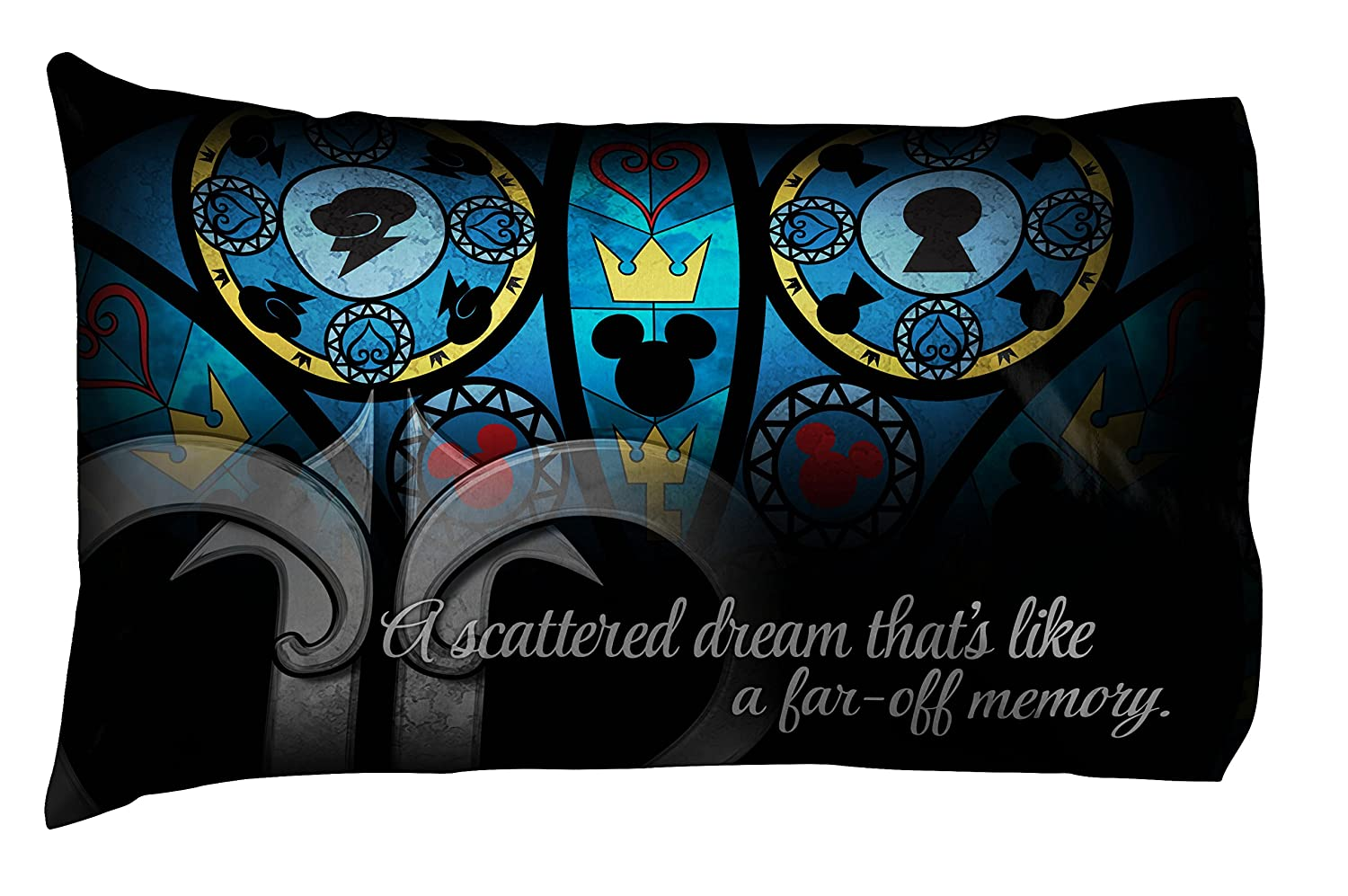 Disney Kingdom Hearts Stained 2 Pack Reversible Pillow Cases