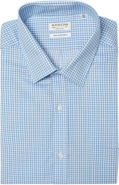 Arrow - Camisa confort fit sin planchar, diseño de cielo azul ...