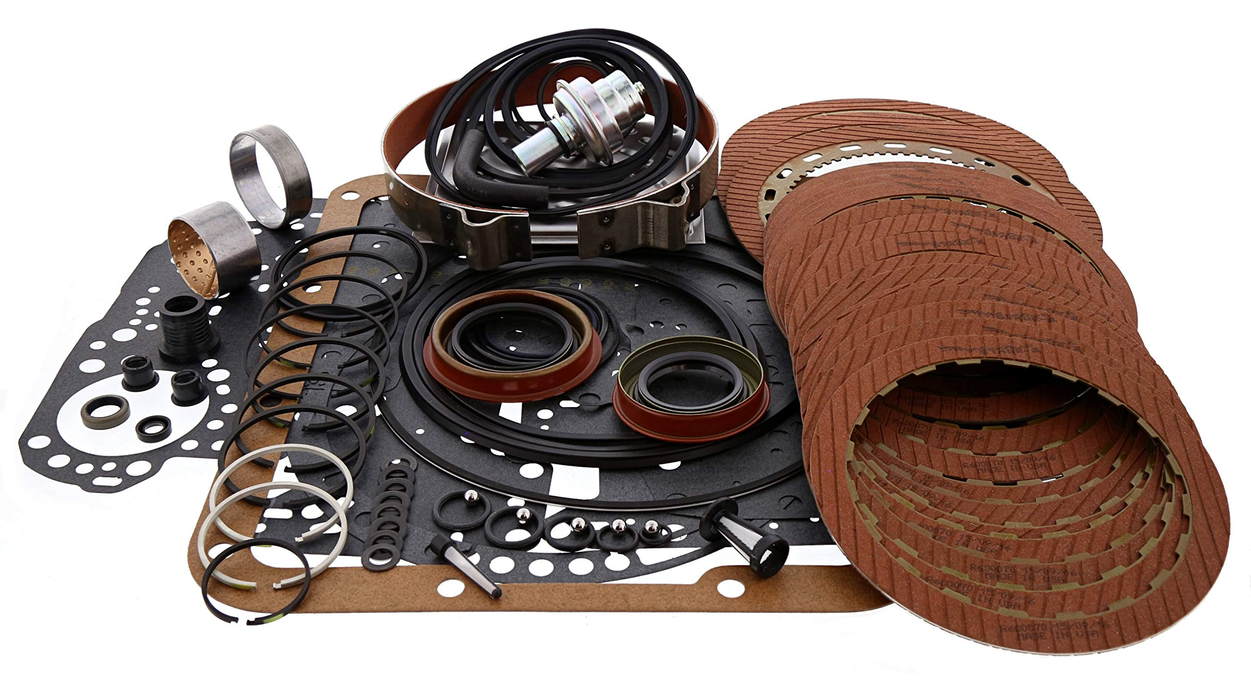 TH350 Turbo 350 Transmission Raybestos Stage 1 Red Less Steel Level 2 Rebuild Kit
