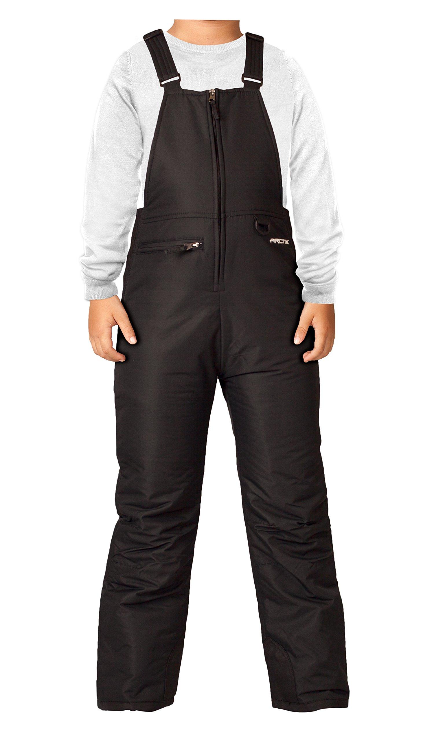 Arctix Youth Insulated Snow Bib Overalls, Black, X-Small/Regular