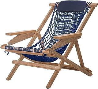 product image for Nags Head Hammocks Cumaru Captain's Chair, Navy Blue DuraCord