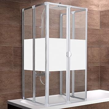 Duschkabine badewanne  Schulte Rundum-Duschabtrennung München, 2 x 104x140 cm, 2x3-teilig ...