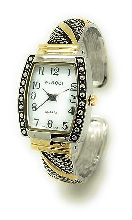 Amazon.com: Señoras reloj de antiguo moderno de metal ...