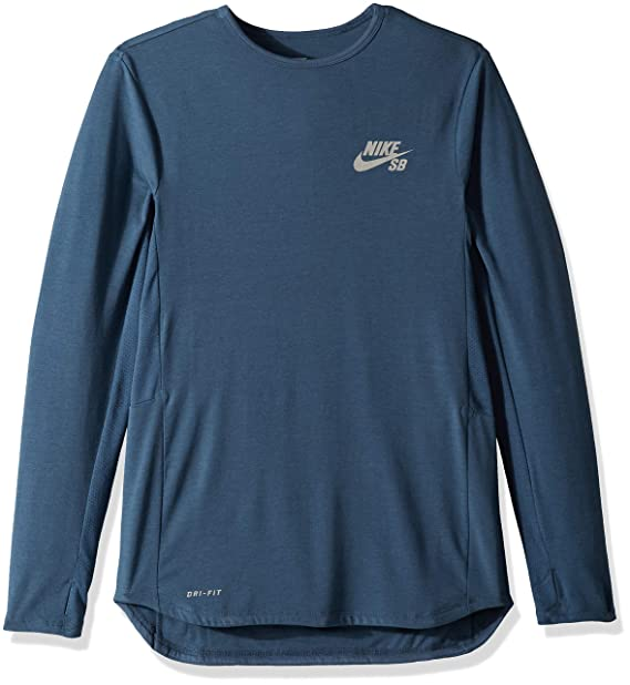 f30cd2fa Nike SB Men's SB Skyline Dri-FIT? Cool Long Sleeve Crew Squadron  Blue/Reflective Silver SM: Amazon.ca: Clothing & Accessories