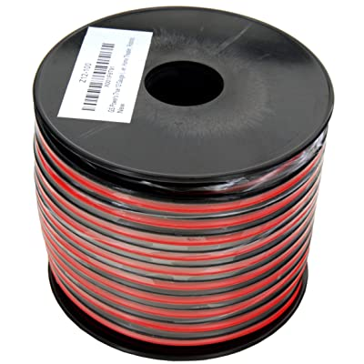 GS Power 12 AWG (American Wire Gauge) 100 Feet Flexible Stranded Oxygen Free Copper Red/Black 2 Conductor Bonded Zip Cord for Car Audio Amplifier 12V Automotive Dash Harness LED Light Wiring: Automotive