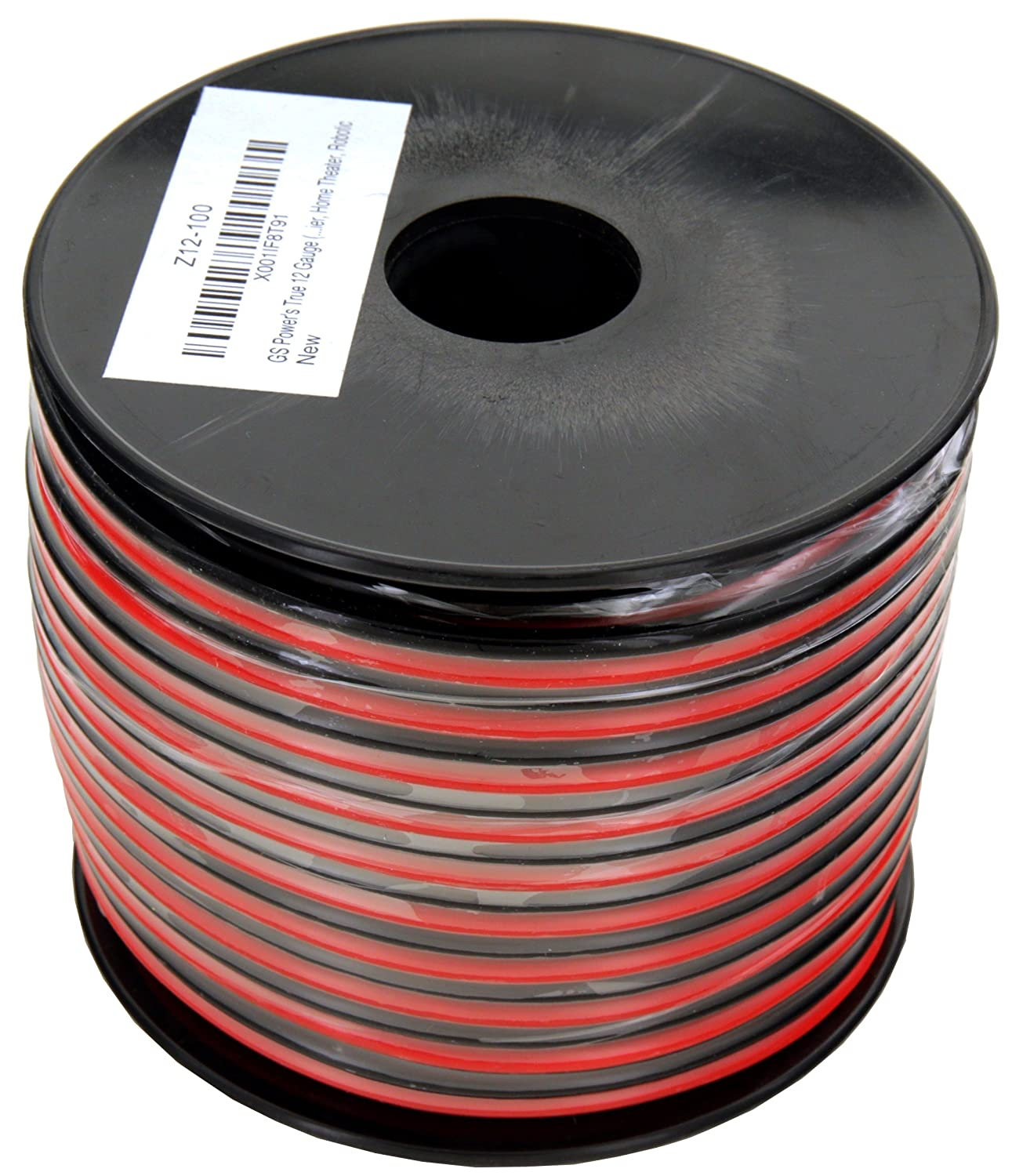 Gs Powers True 12 Gauge American Wire Ga 100 Feet Home Wiring 999 Ofc Stranded Oxygen Free Copper Red Black 2 Conductor Bonded Zip Cord Power Speaker