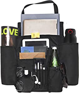 """DriverSuperDreams Car Front Seat Organizer with 11 Pockets (20""""X16"""") - Passenger Seat Organizer - Vehicle Storage Caddy with Dedicated Tablet/Laptop Storage"""