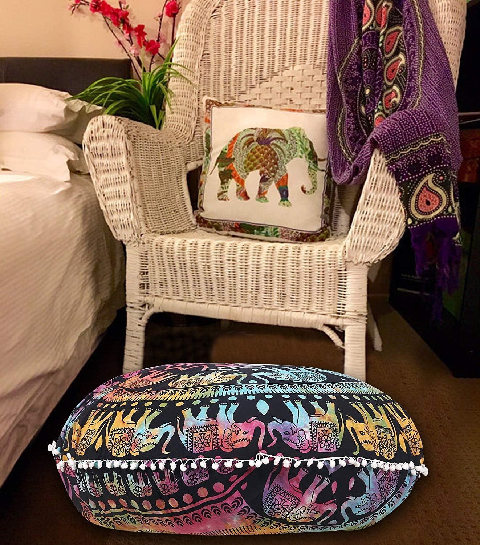 indian Mandala cushion hippie decor 32 boho floor pillow bohemian decorative cushion Indian Round floor cushion