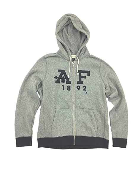 Abercrombie & Fitch - Sudadera con Capucha - para Hombre Gris XL