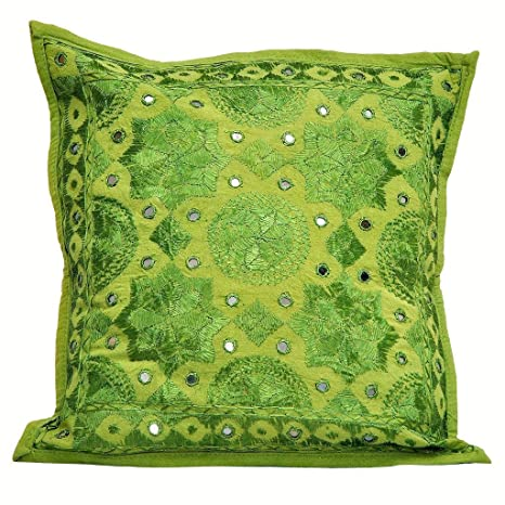 Amazon.com: Beautiful Green decorativo Throw almohada/cojín ...