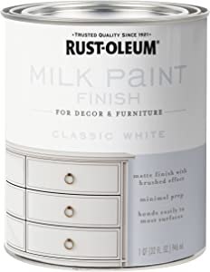 Rust-Oleum 331049 Finish Milk Paint, Quart, Classic White