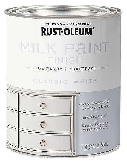 Rust Oleum 331049 Milk Paint Finish Quart Classic White
